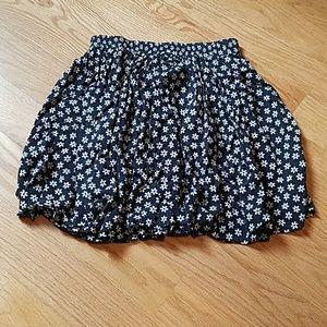 Navy daisy skirt